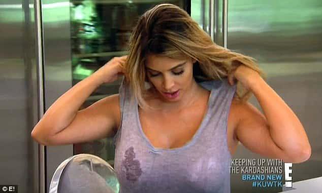 Kim Kardashian Boobs on KUWTK