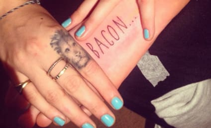 "Cara Delevingne Brings Home ""Bacon"" with Latest Tattoo"