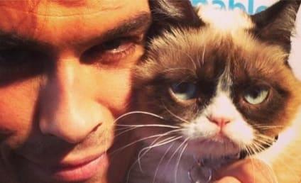 THG Caption Contest: Ian Somerhalder and Grumpy Cat!