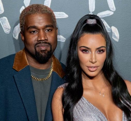 Kanye West and Kim Kardashian Throwback
