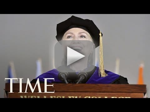 Hillary clinton commencement speech was she trolling trump