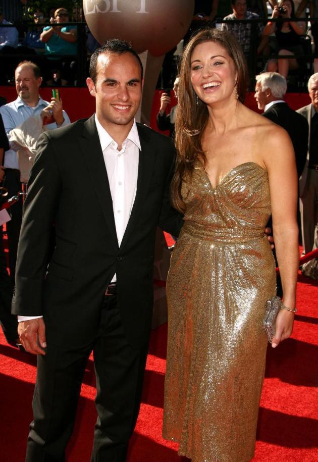 Landon Donovan and Bianca Kajlich