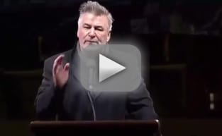 Alec Baldwin Impersonates Donald Trump, Addresses Protestors