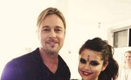 Selena Gomez, Brad Pitt Cozy Up