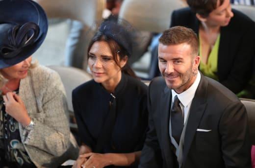 David Beckham Victoria Beckham Royal Wedding