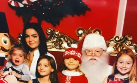 Ariel Winter Showing Cleavage With Santa Claus