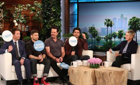 """Entourage Cast Plays """"Never Have I Ever"""" on Ellen"""