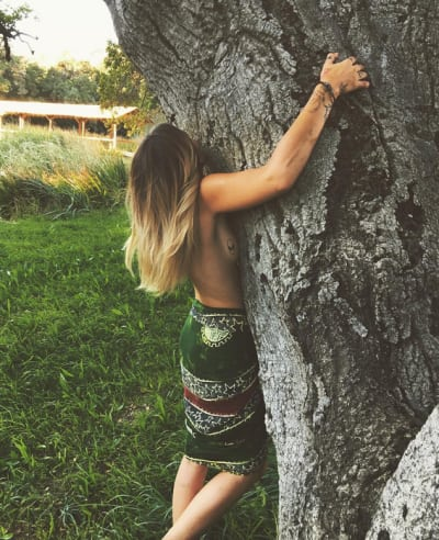 Paris Jackson, Sideboob Tattoo While Tree-Hugging