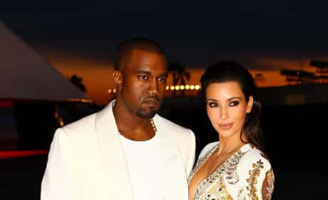 Kim Kardashian and Kanye West in Cannes