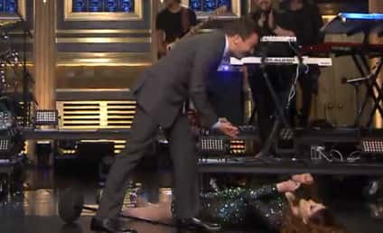 "Meghan Trainor Takes a Tumble After ""Me Too"" Performance On Tonight Show"