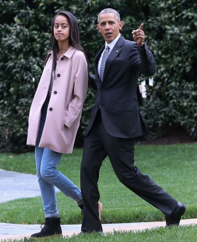 Barack and Malia Obama Image