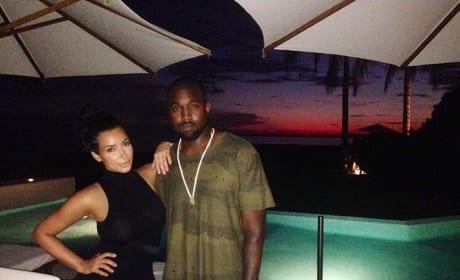 Kim Kardashian and Kanye West in Mexico