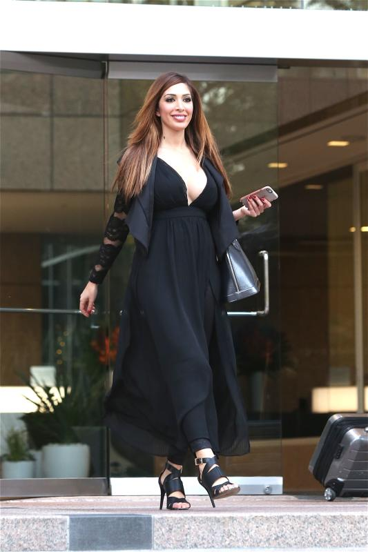 Farrah Abraham Leaves an Office Building in Beverly Hills