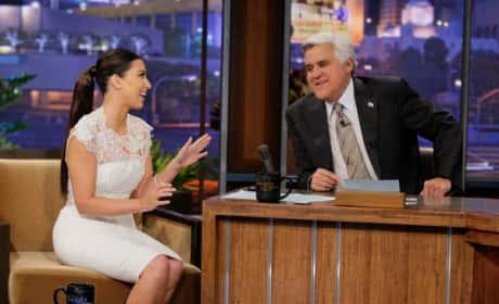 Kim Kardashian with Jay Leno