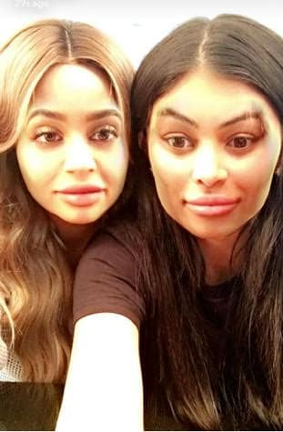Kylie Jenner and Blac Chyna Faceswap