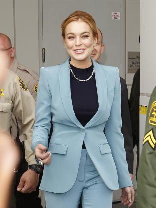 Lindsay Lohan, Blue Blazer