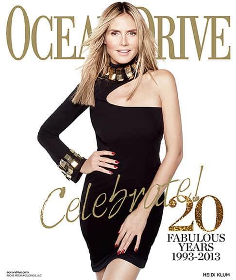 Heidi Klum Ocean Cover
