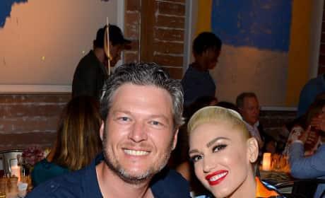 Blake Shelton & Gwen Stefani Cosy Up for Dinner In the Hamptons
