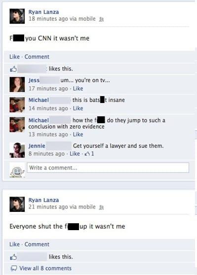 Ryan Lanza Facebook