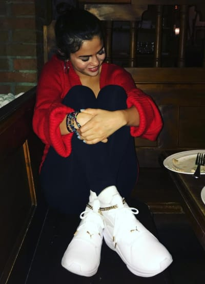 Selena Gomez Laughs Hard