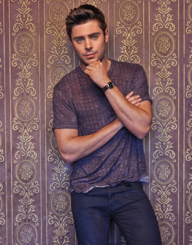 Zac Efron in The Hollywood Reporter