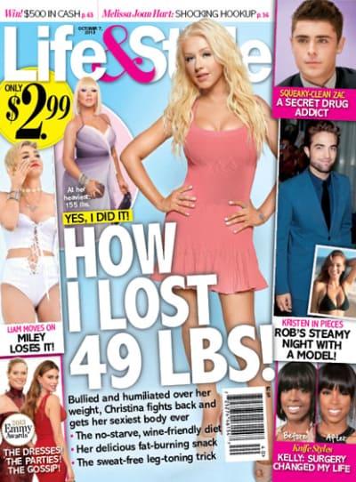 Christina Aguilera Flaunts Thin Figure, Dishes Diet ...