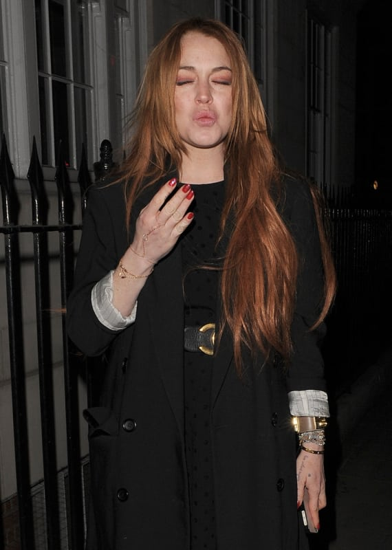 Lindsay Lohan in London