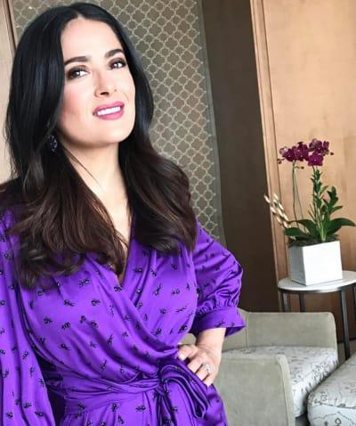 Salma Hayek in Purple