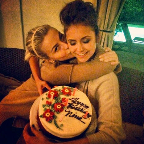 Julianne Hough Kisses Nina Dobrev