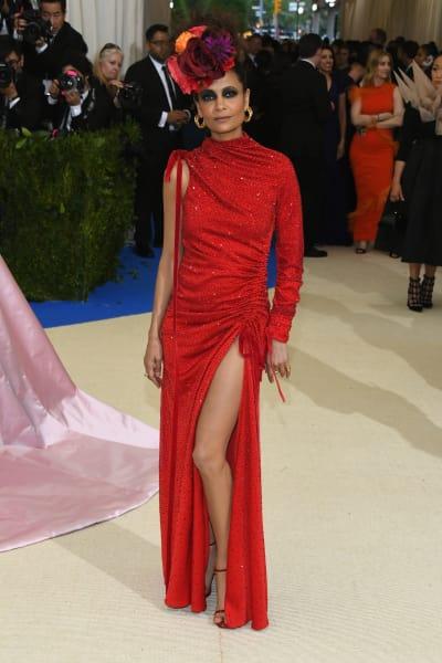 Thandie Newton at 2017 MET Gala