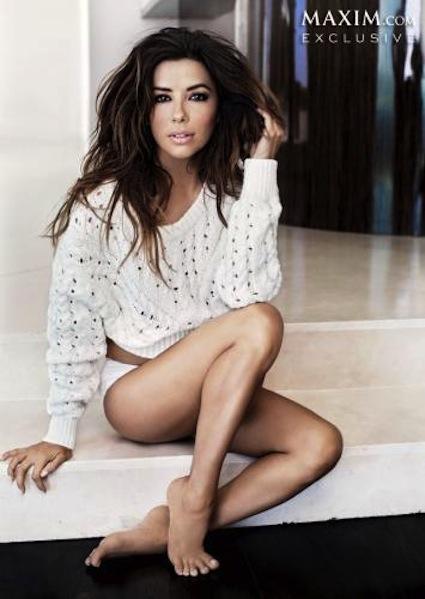 Eva Longoria Poses for Maxim