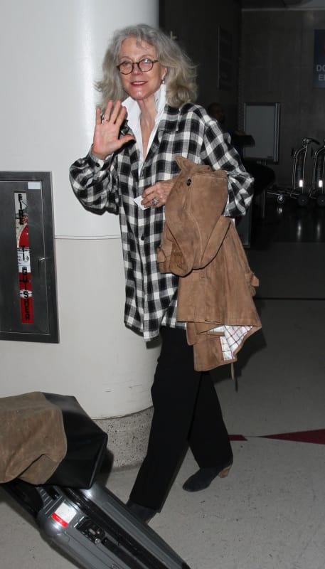 Blythe Danner Lands at LAX