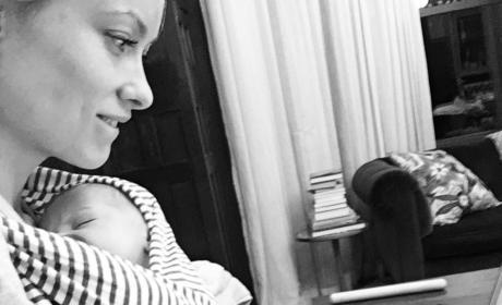 Olivia Wilde with baby Daisy