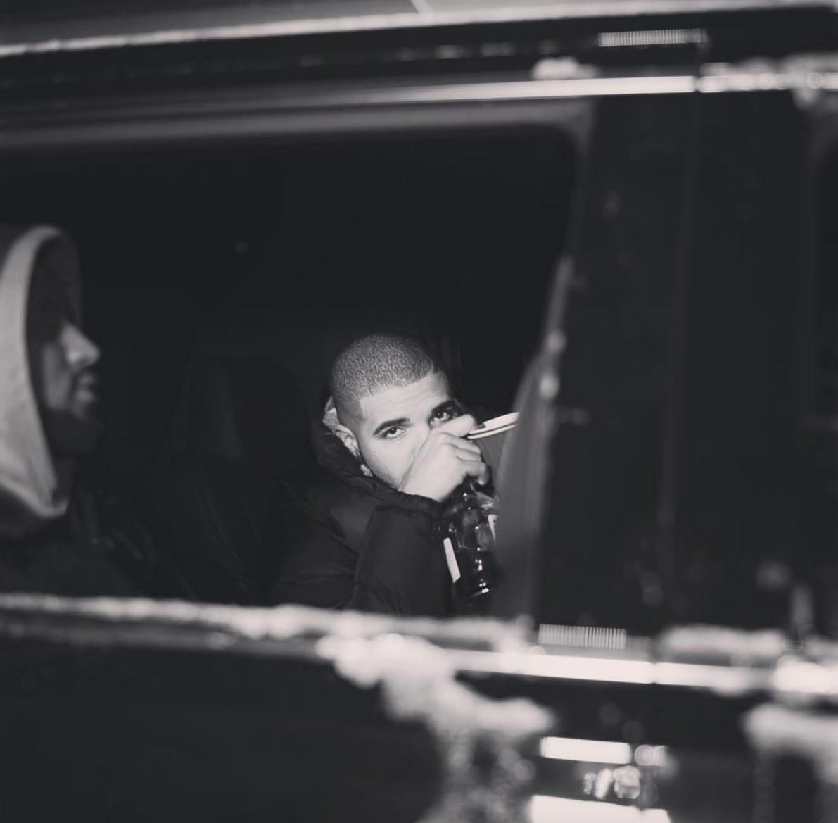 Drake black and white pic