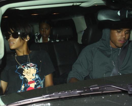 Chris and Rihanna