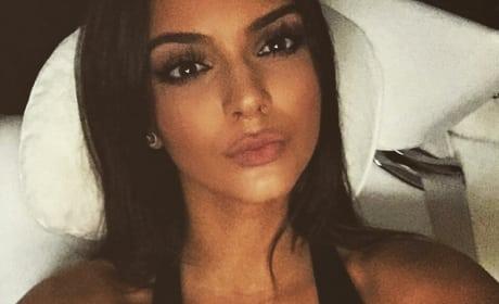 Kendall Jenner Bed Selfie