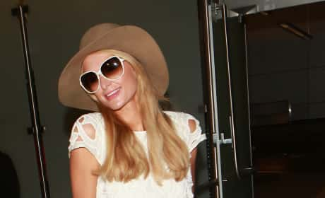 Paris Hilton Hams It Up at LAX