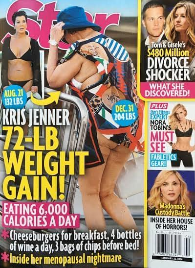 Kris Jenner's Weight Gain: Star Magazine