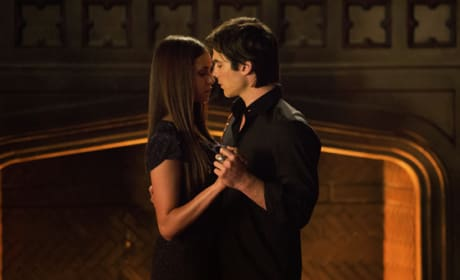 Elena and Damon on The Vampire Diaries