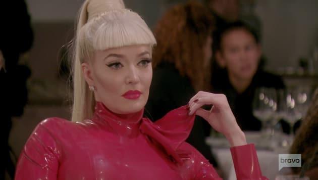 Erika Girardi Wears Red Latex