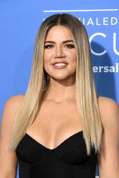Khloe Kardashian with a Big Smile