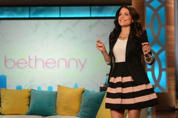Bethenny Frankel on Talk Show Set
