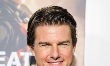 Tom Cruise at Edge of Tomorrow Premiere