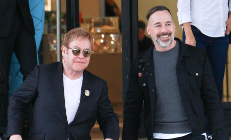 Elton John and David Furnish: Christmas Shopping at Barneys New York