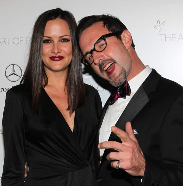 David Arquette with Christina McLarty