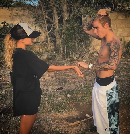 Justin Bieber and Mystery Woman