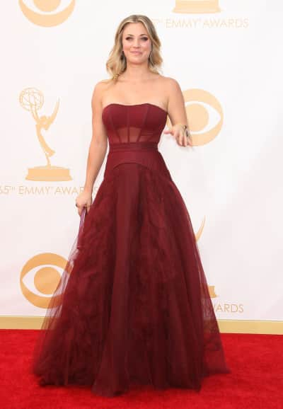 Kaley Cuoco Emmy Dress