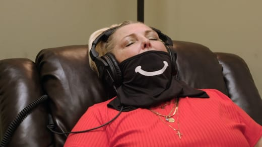 Angela Deem dicknoses during hypnotherapy