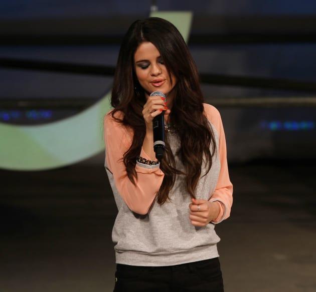 Selena Gomez on the Mic