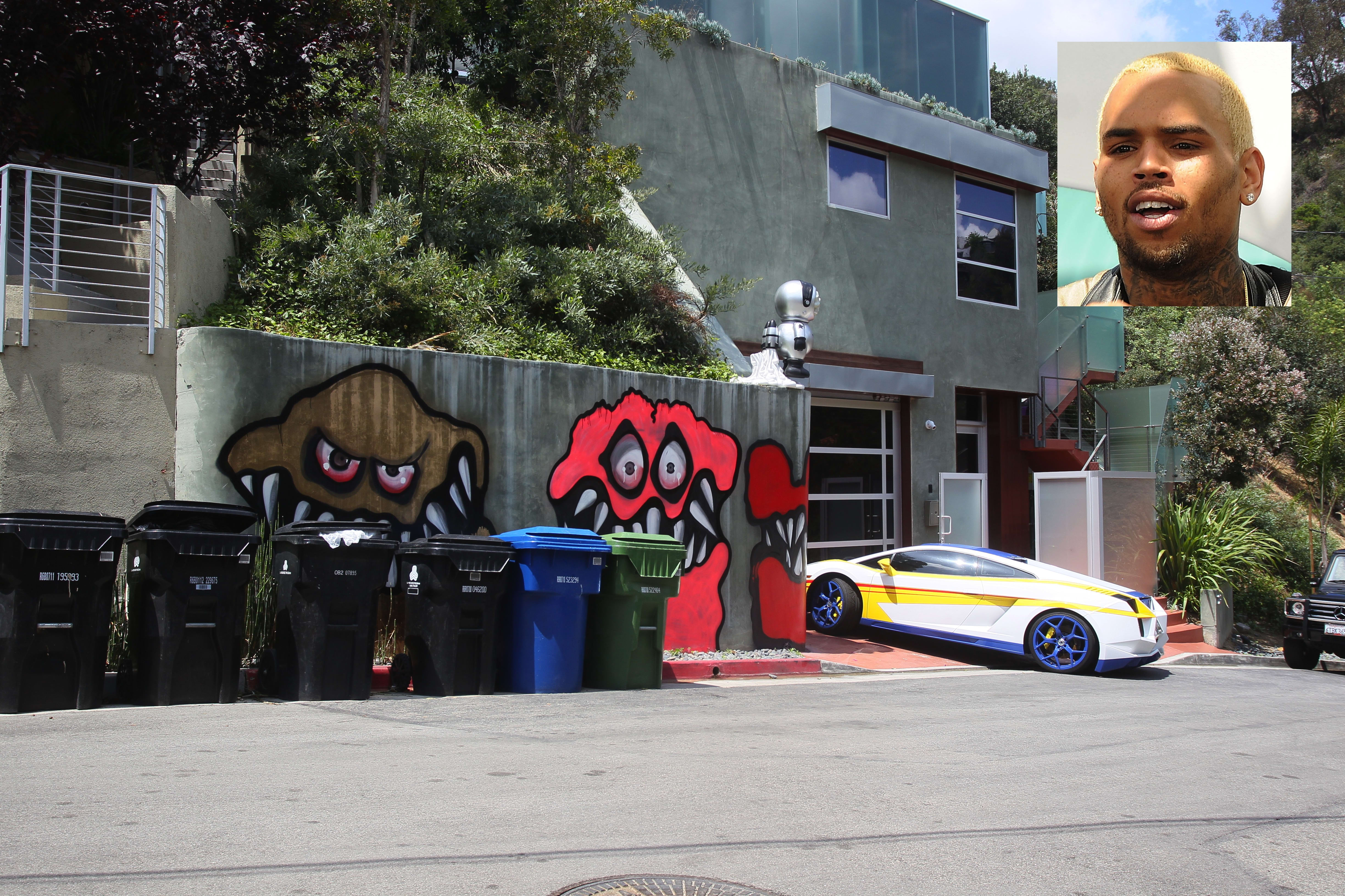 Chris Brown Graffiti Stays Up The Hollywood Gossip